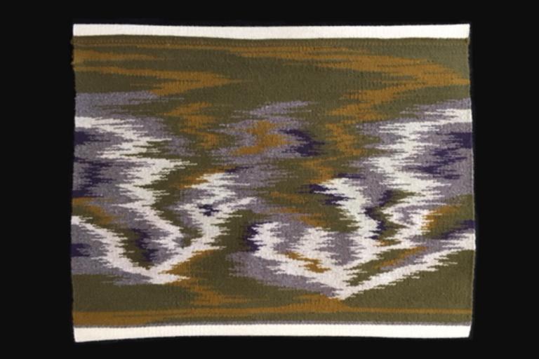 """Murkey H2O's"". Wool. 25"" W x 19.5"" L. Available. © 2020 Ellza Coyle."